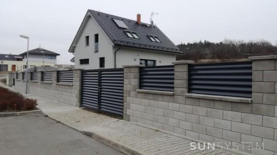 Hliníkový plot NOVA - Praha, 2016