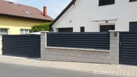 Elektrické pojazdové brány na koľajnici NOVA - Vestec u Prahy