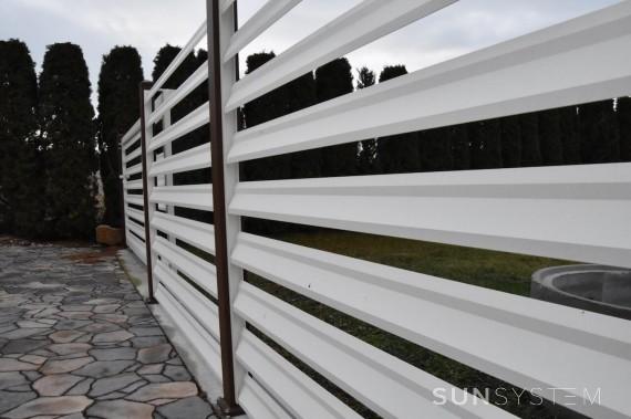 Posuvná brána s hliníkovým plotom NOVA - Rohožník 2018