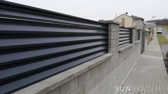 Žaluziové ploty NOVA - Odolená Voda 2016